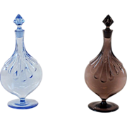Pair of Blenko decanters.