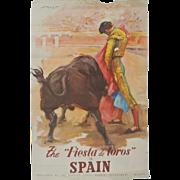 """""""Fiesta De Toros"""" Spanish poster"""