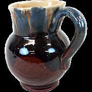 Austria redware glazed pitcher