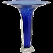 "Murano Somerso glass trampet vase 14 1/2"" tall"