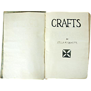 "1920-1930's ""CRAFT"" hand written book  by Stella M. Rackette"