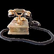 Italian onyx rotary dial phone