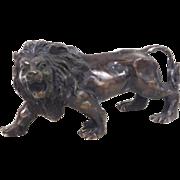 """Bronze lion 3 1/4"""" tall"""