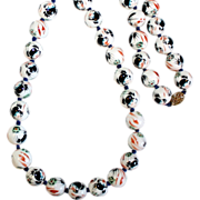 Chinese Porcelain Bead Necklace