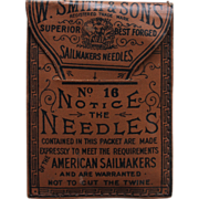 SOLD Antique Package of Marine Sail Maker's Needles W. Smith & Son Late 1800s