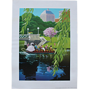 BOSTON SWAN BOATS/Signed & Numbered Print/OREN SHERMAN/1998