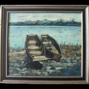 Large Mid-Century Modern Painting/Signed & Titled/Listed Artist/Rafael Ortega
