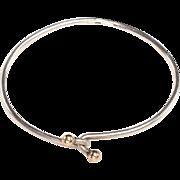 Tiffany & Co. Wire Bangle Bracelet: Sterling, 14kt gold - 1980's discontinued design