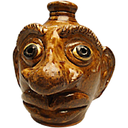 Albert Hodges Pottery Face Jug