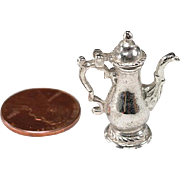 SOLD 1930's Sterling Charm or Dollhouse Accessory: Coffee Pot