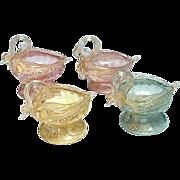 Venetian Glass Master Salt Cellars: Set of 4