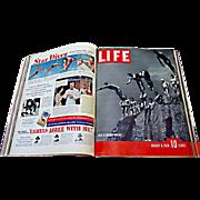 60 Vintage LIFE Magazines: 1937-1938 - Three Bound Volumes