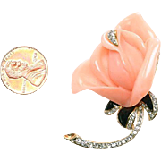 Vintage KJL Rose Brooch - free US shipping