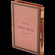 SOLD Original Book of Shaker Music Vol.2 1848