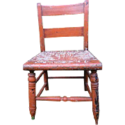 Small c.1880 Chair: Wonderful color and surface