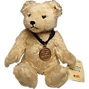 "White Mohair Steiff Teddy Bear with Growler:  Limited Edition - Disney ""Dawn of the New C"