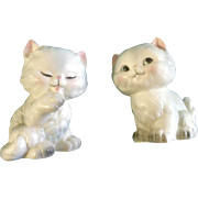 Lefton Cat Salt & Pepper Shakers Cutie Cat Kitten Figurines H889 Vintage