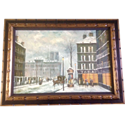 Anthony Veccio 1970's Midtown Manhattan New York Street Scene, Large Oil Painting On Canvas
