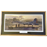 "Merv Corning, B-17G ""Square J's at Farmlingham"" Limited Edition Litho Numbered Print ..."