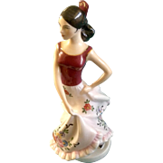 Royal Dux Spanish Dancer Hand Painted Fine Porcelain Figurine 22179 15 83  Marked Czech ...
