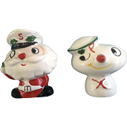 1959 HOLT HOWARD Japan SS NOEL Salt & Pepper Shakers Santa Snowman