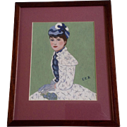Estella Rhodes, Oil Painting, Portrait of a Young Woman, Painted on Artist Board, Signed by ..