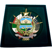 Retired 2000 Reverse of Texas State Seal Texas State Capitol Christmas Ornament New In Box