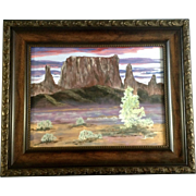 Colorado Sunrise Desert towers, Acrylic Painting on Canvas Signed by Artist