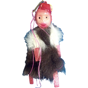 Vintage Monkey Made of Celluloid Plastic & Fur Carnival Circus Prize Japan 1930's Organ ...