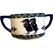 Rare Royal Doulton Black Bird Crows Sugar Bowl (1923-1927) Vintage Made in England Fine ...