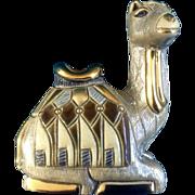 Vintage Riconada De Rosa Reclining Camel #718, Retired, 25th Silver Anniversary Series