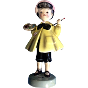 Extremely RARE Py Japan Girl Painter Mid-Century Cutie Pie Face Figurine