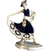 Royal Dux 3469 Lady Dancer Figurine Made in Czechoslovakia Pink Triangle with D