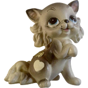 Josef Originals Sweetheart Kitten Cat with Whiskers Hard to Find Vintage Animal Figurine