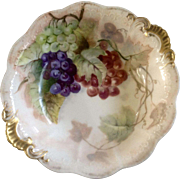 Jean Pouyat (JP) Limoges France, Large Fruit Bowl Hand Painted and Signed 1901 E B ...