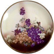 C.T. Altwasser Silesia Plate, Germany, Porcelain Grapes & Leaves Vintage Dish