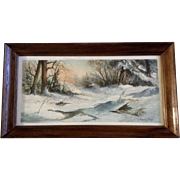 Joseph Boon, Painting, Snow Covered Trail in the Fall, Belgium-American-Colorado (20th Century