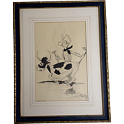 Helen Wallace Pencil Animation Sketch Works on Paper given to Walt Disney by Ida M ...
