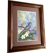 Cecelia (Cece or Cee) Rodriguez, Watercolor Painting Dove Bird in Tropical Forest, Works on ..