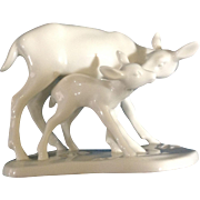 Noritake Mothers Day Deer & Fawn Figurine 1974 - 1977 Discontinued Fine Bone China