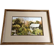 Walter Parke , House in the Back Country Watercolor Painting on Paper Signed by Listed Artist