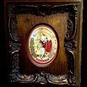Gorgeous Vintage Cigar Box Label in Wood Frame Fabrica de Tabacos Romeo Y Julietta Medallas ..