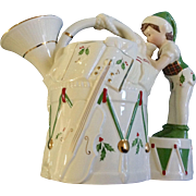 Lenox, Santa's Holiday Toy Workshop, French Horn Pitcher. Christmas China Discontinued