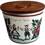 Bauer USA Pottery Sugar N Spice N Everything Nice Austrian Children Dancing and Strawberries .