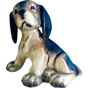 Vintage Western Germany Glazed Puppy Dog Mid-Century Ceramic Figurine