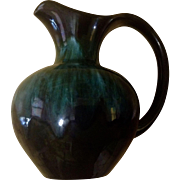 Vintage Blue Mountain Pottery Pitcher Green Hues Ontario Canada LTD Reflowing Decorating Clay