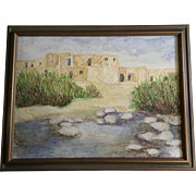Babe Scoggin, Taos Pueblo in northern New Mexico, Adobe Apartment Homes Oil Painting on ...