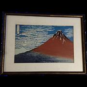 Katsushika Hokusai, Mount Fuji Japanese Woodblock Print Works on Paper 1960-1980 Edition