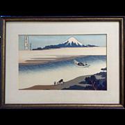 Katsushika Hokusai, Tama River Fugaku Sanju-rokkei Mount Fuji Japanese Woodblock Print Works o