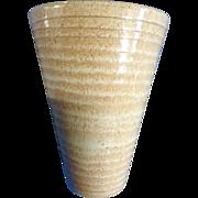 Vintage Undine Sigtuna Sweden Mid-Century Yellow Pottery Vase